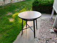round brown wooden side table Colorado Springs, 80918