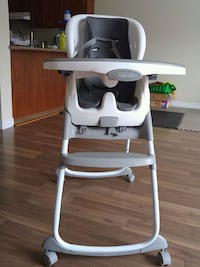 white and gray high chair Kitchener, N2P 2R8