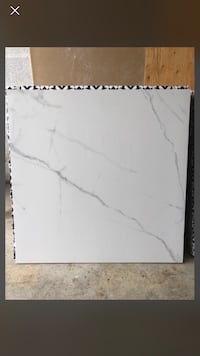 24x24 white/grey porcelain tile matte finish Oakville