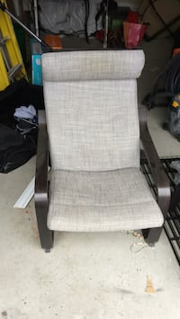 Grey ikea chair and ottoman poang  Bradford West Gwillimbury, L3Z 0P5