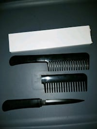 two black plastic hair combs Canandaigua, 14424