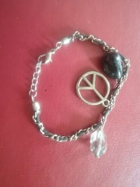 cool bracelet peace sign with beads Annapolis, 21401