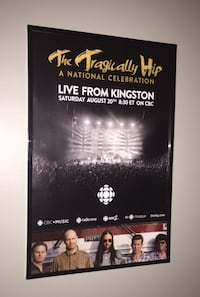 Framed Tragically Hip Final Concert Poster  Pickering