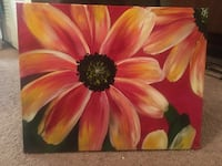 pink and yellow flower painting New Port Richey, 34653