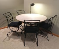 Crate & Barrel REAL Marble Table for Patio or Inside