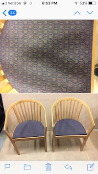 Pair cushioned office chairs Jersey City