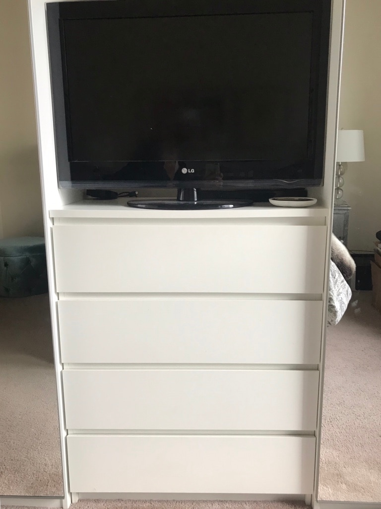 Used IKEA Malm 4 Drawer Dresser  White For Sale In Jersey City   Letgo
