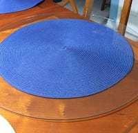 Round glass for wooden table