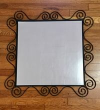 Black metal frame mirror