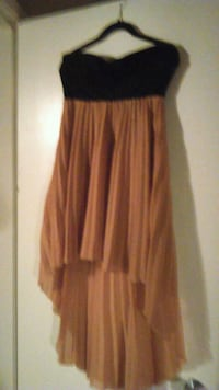 women's black and orange spaghetti strap dress Edmonton, T5N 1P3