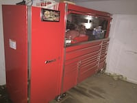 red and gray metal tool cabinet Surrey, V3S 3M9