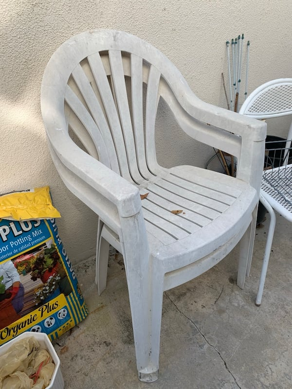 Plastic Resin Patio Chairs White Green