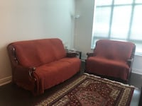 red and black fabric sofa set Toronto, M2J 0B2