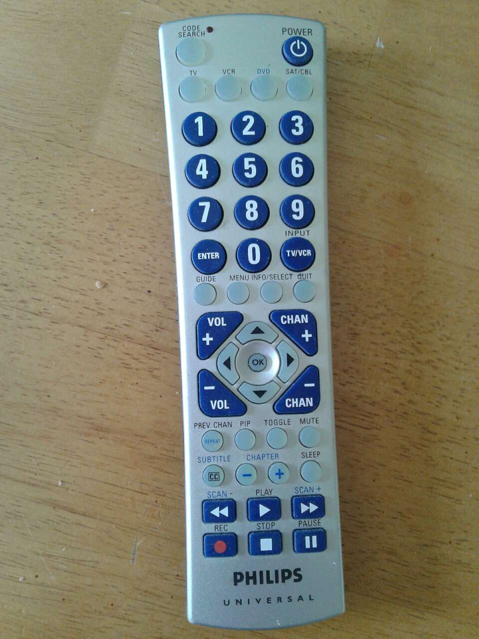 philips universal remote cl034 instructions