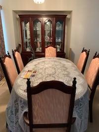 Wood dining room suite