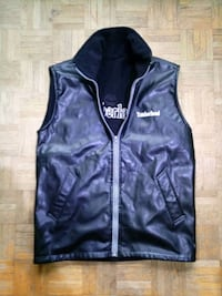 NEW Black Timberland Irreversible Leather/Sherpa Vest (Men)