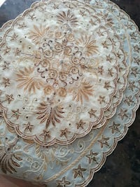 white, brown, and gray floral table cloths Surrey, V3R 5X9