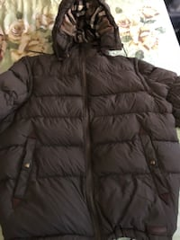 Black zip-up bubble jacket New York, 10459