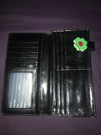 Black with green and yellow flowers wallet Burlington, L7R 4M4