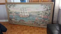 Needle point framed Christopher Columbus. Offers will be considered Innisfil, L9S 2A4