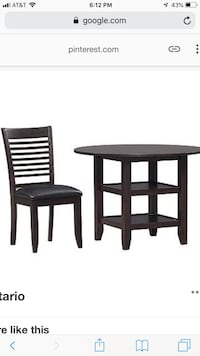 round black wooden table with two chairs Royse City, 75189