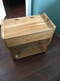 Handmade Solid Wood Night Stand with drawer Coquitlam