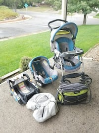 baby's gray and teal travel system Provo, 84604