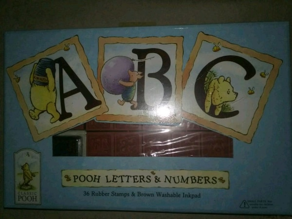 numbers to letters used new winniepooh rubber stamp gift set for in 23803 | c1451400373b01611e3b36d51af92698