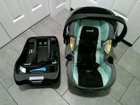 baby's black and green car seat carrier Regina, S4V