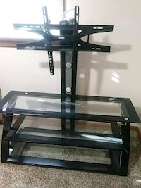 black glass TV stand with mount Festus, 63028