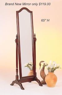 Brand New Mirror only $119.00 Merlot Color .