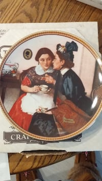 "Collector Plate-Norman Rockwell-""Gossiping in the Alcove"" THORNHILL"