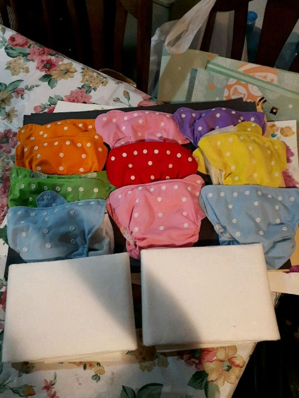 Cloth and waterproof diapers, snap buttons 10x