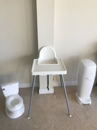 Baby/Toddler Set: Diaper Genie, Potty/Toilet, High Chair