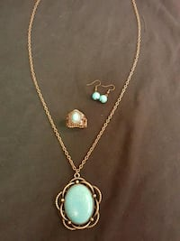Turquoise and copper set. New. 1219 mi