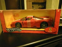 red Hot Wheels Ferrari modello in scala FXX