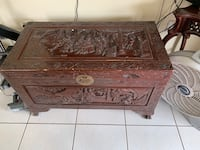 Antique wooden chest carved Miami, 33183