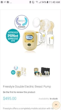 baby's white and yellow Medela breast pump Dartmouth, B3A 4C5