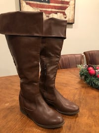Brown over the knee boots size 9 Thurmont, 21788
