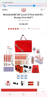 level 2 first aid kit certified by work safe bc  Vancouver, V6E 3V1