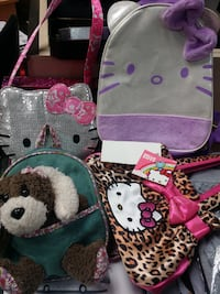 pink and black Hello Kitty backpack MISSISSAUGA