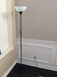 white and black torchiere lamp Vaughan, L6A 0E4