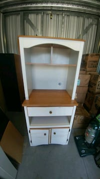 white and brown wooden shelf Laval, H7A 4A8