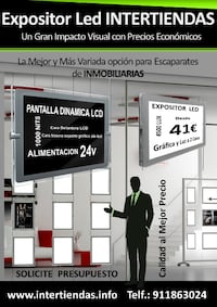 Cartel escaparate Inmobiliaria BARCELONA