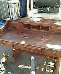 brown wooden single pedestal desk Fresno, 93728