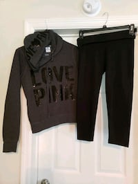 Victoria secrets outfit size small. leggings w hoodie.  excellent cond