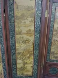 brown wooden chinese wall partition. Ocala, 34471