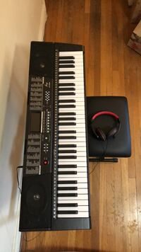 Joy 61 standard keys key board with USB player, seat, and headphones