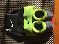 pair of baby's gray-and-green Nike bootees with matching knit cap London, N6K 3A3