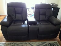 black leather home theater sofa Gaithersburg, 20878